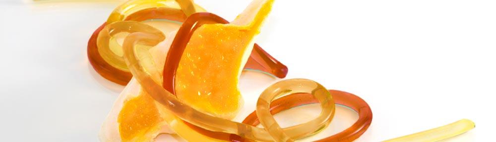 esparguetes de vinhos espirituosos efectuados com agar